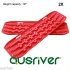 2X Red Recovery Tracks 4WD ATV Off Road Tyre Ladder Caravan Sand Mud Snow New
