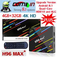 NEW H96 Max Plus+ Android 8.1 Smart TV Box 4GB+32GB RK3328 4KHD WIFI Set TOP Box