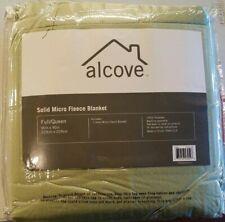 New Alcove Microfleece Solid Blanket In Sage - Full/Queen