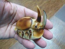 (TNE-HORN-444-B) Horned Beetle bug TAGUA NUT Figurine carving VEGETABLE BEETLES