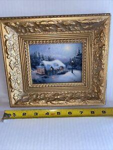 Thomas Kinkade canvas paintings Framed Winter Light Cottage.