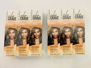 LOT of 6-Clairol Color Crave Hair Makeup SHIMMERING BRONZE 1.5 fl oz Temporary
