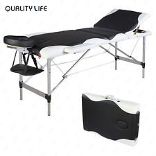 Aluminum 3 Foldable Massage Table Facial SPA Bed Tattoo with Free Carry Case