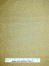 Riverwoods Farm Doodles Blender Olive Brown Patterned Cotton Fabric YARD