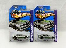 Lot of (02) 2013 Hot Wheels HW Showroom '10 Camaro SS Walmart Exclusive ZAMAC