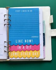 A5 Filofax Organiser Paper Set - Stuff I Need To Do Note Paper Design - 15 Pages