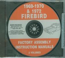 1969 70 72 PONTIAC FIREBIRD/TRANS AM  ASSEMBLY MANUAL ON CD