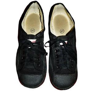 Warrior Feiyue Black Canvas Martial Arts Wushu Shoes Size 38 EU Kung Fu Parkour