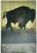 ABERCROMBIE & FITCH BUFFALO ad Vintage poster art
