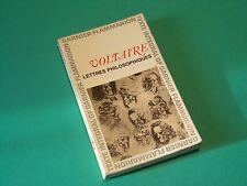 Voltaire Lettres philosophiques édition Flammarion Circa 1964