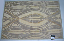 "B. SMITH OKONGO ACCENT RUG 38"" x 55"" Beige/Light Brown NEW"