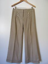 Express Design Studio Beige Double Button Corset Tie Back Cuffed Pants SZ: 2