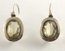 Earrings 14k Yellow Gold Antique Georgian Rare Cintrine