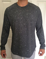 Lululemon Mens Size M Fresh Form LS Gray BLK/WHT Long Sleeve Xstink Tech Fabric