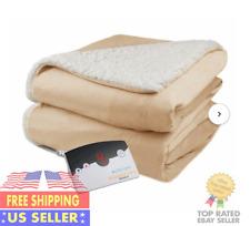 Biddeford Heated Electric Microplush Blanket Twin Digital Controler Linen