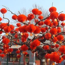 Chinese Red Paper Lantern Traditional Festival Hanging Decor Waterproor 50 Piece