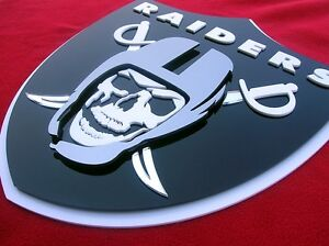 RAIDERS 3D SIGN art Brady man cave football display Las Vegas Nevada Casino Carr