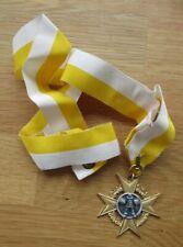 Orden Karneval / Karnevalsorden am langen gelb - weißen Halsband