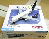 Herpa Wings 1:500 505727 ROYAL Airlines Canada B737-200 C-FNAO - Airplane Model