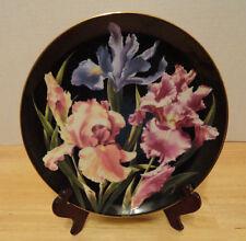 Danbury Mint Plate 1989 The Flower Gardens of Count Bernadotte Iris