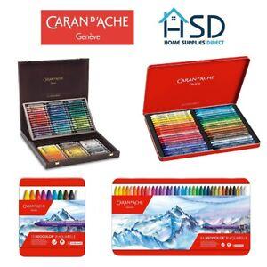 Caran d'Ache Neocolor II Water Soluble Wax Pastels Sets Artist Oil Crayons Paint