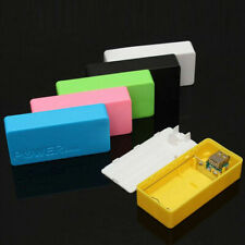 6 Color Portable USB Power Bank Case Charger Box 2X 18650 Battery Case DIY
