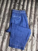 """Talbots Flawless Women's Size 18W Denim Jeans High Waist Wide Crop (Inseam 24"""")"""