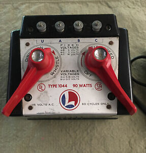 Lionel TRANSFORMER Type 1044: 90 Watts, Speed, Whistle Direction Bench Tested