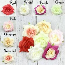 2/50 9cm Silk Rose Artificial Flowers Fake Flower Heads Wedding Bouquet DIY Deco