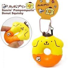 Sanrio Pompompurin Squishy Donut Ball Chain Jack Plug Accessory (Cinnamon)