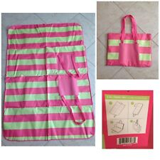 Beach Bag-ULTA 2 In 1 Tote Travel Zippered Opens Up To Make A Beach Blanket