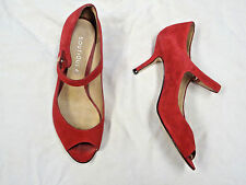 Boutique 9 red suede leather shoe   Size 5 1/2   Open Toe