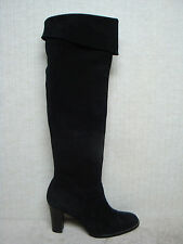 ANNE KLEIN New York - Knee High or Above -Tall Black Suede Leather Boots- Size 8