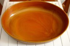 ARCOPAL Volcan Oval Dish Bowl Orange Brown  (UNUSED) Vintage