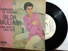 """GILDA GIULIANI PROMO COMPAGNI DI VIAGGIO 7""""  UNA NOTTE UNA VITA 1977"""
