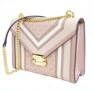 Michael Kors Bag Handbag Whitney Large Shoulder Bag Pink Multi New