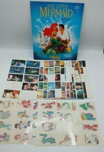VINTAGE 1990 PANINI DISNEY THE LITTLE MERMAID STICKER ALBUM WITH STICKERS