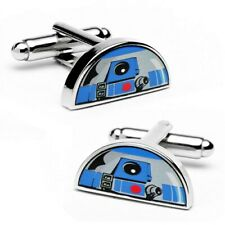 Star Wars R2D2 Dome Cufflinks - Silver Plated - Officially Licensed