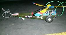 Hr-47 army tin battery operated toy made in japan working condition