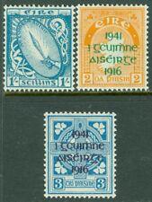 EDW1949SELL : IRELAND 1940-42 Scott #117, 118-19 All VF Mint OG LH. Catalog $228