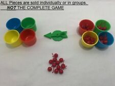 U-PICK 1999 Hi Ho! Cherry-O Game Replacement Pieces buckets cherries spinner