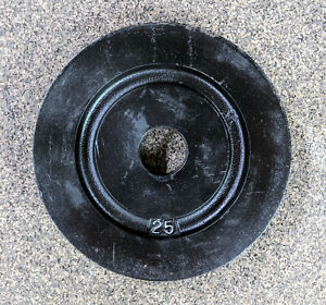 2 x 25 lbs York Milled Back Olympic Weight Plates PAIR - FREE PRIORITY SHIPPING!