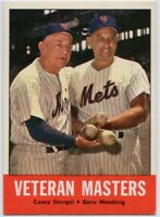 1963 Topps #43 Casey Stengel NRMT Gene Woodling New York Mets FREE SHIPPING