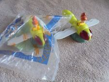 Burger King Sealed Loose Bug Riders 2 Lot Girl Flying Insect Fly Wings Toy 1998