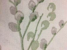 LAURA ASHLEY PUSSY WILLOW OFF WHITE/HEDGEROW  CURTAIN fabric 1metre x 137cm NEW