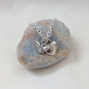 Bee and Heart Necklace Save the Bees Manchester tribute Animal Gift FREE POSTAGE
