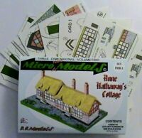 Micromodels ANNE HATHAWAY'S COTTAGE SET FHB1 Micro New Models card model kit