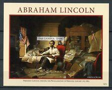 Gambie 2012 neuf sans charnière Abraham Lincoln émancipation procl 1 V S/S les présidents des États-Unis timbres