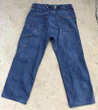 Levis Vtg Buckle Back Cinch 1930's Style Riveted  Denim Jeans  Sz 35 X 28