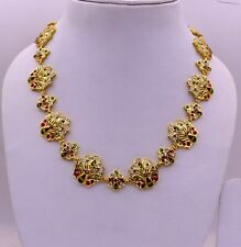 INDIAN TRADITIONAL DESIGN 22 CARAT GOLD TRIBAL NECKLACE NICE WOMEN GIRLS JEWELRY
